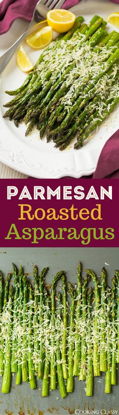 Parmesan Roasted Asparagus - this is one of the easiest and best side dishes you'll ever make! LOVE this stuff!