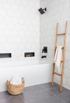 36 Marvelous Wooden Shower Floor Tiles Designs Ideas For Bathroom Remodel White Bathroom Tiles, Bathroom Floor Tiles, Small Bathroom, Master Bathroom, Grey Tiles, Latest Bathroom Tiles, Best Bathroom Flooring, Tile Bathrooms, Condo Bathroom