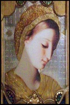 """""""Relicarios"""". Arte con material de desecho. Ostensorio III, de 70 x 60cm. Copyleft, by Luis Chwesiuk."""