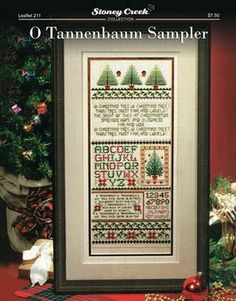 Stoney Creek Collection O Tannenbaum Sampler - Cross Stitch Pattern. O Christmas tree, O Christmas tree! Thou tree most fair and lovely! The sight of thee at Ch