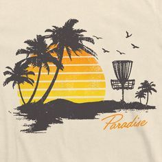 """""""Paradise is Waiting!"""" Cream Tee AVAILABLE IN: Small, Medium, Large, X-Large Constructed using only the highest quality 100% combed ring-spun cotton. It is a super soft 30 single 4.3 oz. Low shrinkage"""
