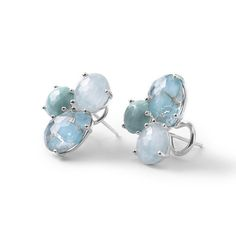 IPPOLITA Rock Candy Sterling Silver Cluster Stud Earrings in Turquoise
