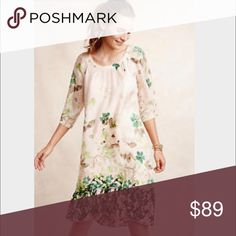 Anthropologie silk dress. Size Medium I love this dress just have never worn it 🎉So gorgeous 💥Was on the cover on Anthropologie catalog last year. New. Hd in Paris for Anthro. New without tags. Anthropologie Dresses