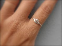 evil eye sterling silver ring by 19bis on Etsy