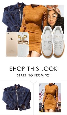"""""""Untitled #355"""" by issacurleyhead ❤ liked on Polyvore featuring Levi's, WithChic and Puma"""