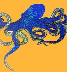 Octopus Illustrations by Lena Frazier, via Behance