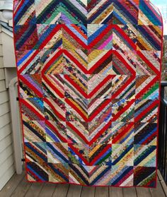 several string quilt layouts for donation quilts