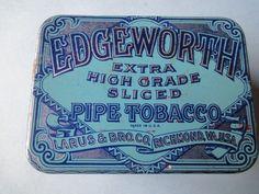 Edgeworth Pipe Tobacco Vintage Tin Richmond, VA USA Great Condition