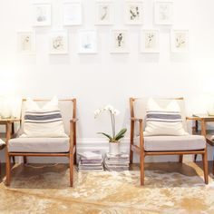 The skin remedy waiting room. Facial Room, Fig And Yarrow, Interior Styling, Interior Design, Eco Beauty, Spa Rooms, Waiting Rooms, California Style, Wishbone Chair