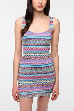 UrbanOutfitters.com > Reverse Textured Knit Strappy Back Dress