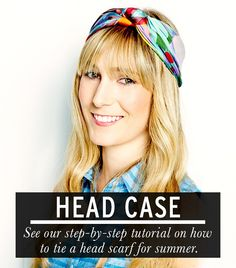 Follow our guide to tying a head scarf and achieving an on-point summer look. via @WhoWhatWear