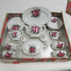 Vintage Little Duchess Real China Tea Party Set Made in Japan LOOK!!