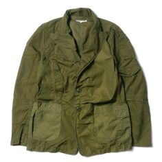 Rebuild BDU Peaked Lapel Jacket by Needles