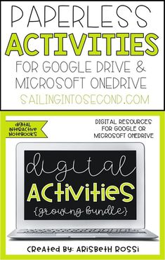 These NO PREP digital interactive notebooks and interactive activities will help your students learn all about various topics in a fun and engaging way without wasting paper!
