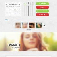 Dynam Free UI Kit PSD - Psd Files - GFXNERDS