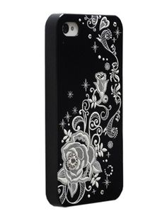 Black Lace Rose for iPhone4/4S