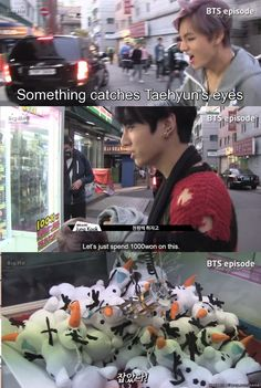 Taehyung and his love for Olaf  Me too v. ^-^