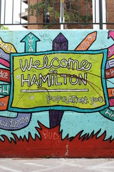 Get outside and explore, Hamilton! The city's art scene is bursting with talent and many local artists have taken their work to the streets. There are so many colourful murals to enjoy. Here are some highlights to look out for. Hamilton Ontario, Tourism Website, Natural Playground, Local Artists, Get Outside, Tour Guide, The Great Outdoors, Niagara Falls, Murals