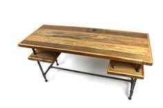 Modern Industrial Desk //  Rustic Reclaimed Barn Wood by weareMFEO, $1175.00