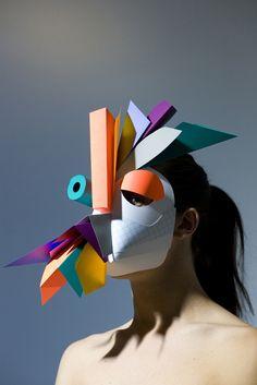 Kids art and paper mask inspiration - Benja Harney paper creations Mascara Papel Mache, Arte Fashion, Plakat Design, Masks Art, Art Plastique, Mask Design, Art Education, Wearable Art, Art Lessons