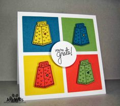 JENerally Speaking: Warhol Grate Card for Inky Paws Challenge #6 at Newton's Nook Designs Blog