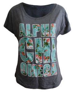 Alpha Chi Omega Camo Tee