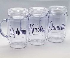 Celebrate any Holiday or Event with this fun Double Walled Mason Jar Mug with lid and straw.  These
