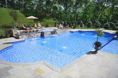 Having a pool sounds awesome especially if you are working with the best backyard pool landscaping ideas there is. How you design a proper backyard with a pool matters. Luxury Swimming Pools, Dream Pools, Swimming Pools Backyard, Swimming Pool Designs, Lap Pools, Indoor Pools, Luxury Pools, Backyard With Pool, Gunite Swimming Pool