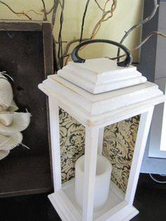 diy lantern: just prim this up, and we are good to go!