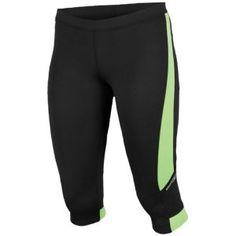 Saucony Ignite Tight Capri - Women's - Running - Clothing - Black/Nimble Green