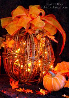 The Robin's Nest: Lighting Up Fall...