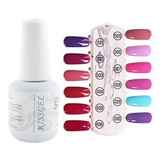 Tint 1PCS Sequins UV Color Gel Nail Polish No.25-36 Soak-off(15ml,Assorted Colors) *** Details can be found by clicking on the image.