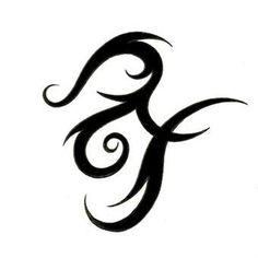 nice Widder Und Fische Herz Zusammen Tattoo-Design