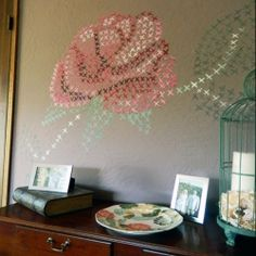 Have a lonely wall in your home not anymore with this fun for Cross stitch wall mural