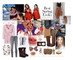 """""""Day 11: favourite moment: belle and beast in the snow and old lady feeds the birds in Mary poppins"""" by sarah-m-smith ❤ liked on Polyvore featuring H&M, NLY Trend, Paige Denim, Glamorous, MSGM, Christian Dior, Dsquared2, Dan Post, Charlotte Tilbury and NARS Cosmetics"""