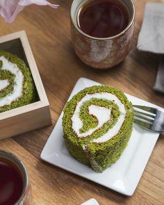 Rouleau fourré au thé vert