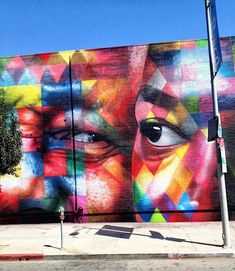 Street Art by Kobra in Los Angeles