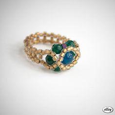 Wyplatany pierścionek | elley Turquoise Bracelet, Beaded Bracelets, Zip, Jewelry, Jewlery, Bijoux, Pearl Bracelets, Schmuck, Jewerly