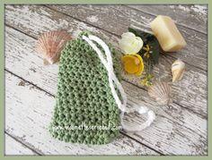 Soap Saver Bag Pouch Drawstring Mint Green Shower Handmade Gift