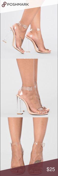 9c563c23307 Glass Slipper Heels NWT Fashion Nova Size 9 Glass Heel! Fashion Nova Shoes Heels  Fashion