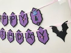 Vampirina Birthday - Vampirina Kids Party Decoration - Celebrat : Home of Celebration, Events to Celebrate, Wishes, Gifts ideas and more ! Halloween Birthday, 4th Birthday Parties, 1st Birthday Girls, Girl Parties, Office Parties, Diy Birthday Banner, Happy Birthday Banners, Birthday Ideas, Vampire Theme Party