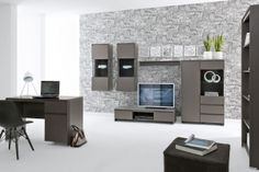 Modern design and perfect execution are ideal solution for most demanding users. Polish BRW Modern Furniture Store in London, United Kingdom Modern Furniture Stores, Home Office Furniture, Cabinet Furniture, White Furniture, Living Room Grey, Living Room Sets, Hallway Office, Office Desks, Entertainment Furniture