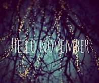 Hello November. My favorite month :)