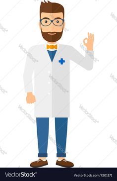 Doctor showing sign ok Vector Image by RAStudio