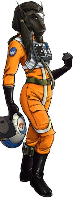 ? Asyr Seilar the bothan of Rogue Squadron? Sure looks like her....