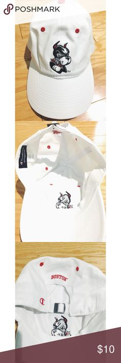 Boston University Terrier Hat White Boston terrier hat. Never worn but took off the tags. Also on vinted for less shipping. Champion Accessories Hats