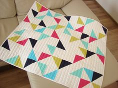 Handmade Baby Quilt / Modern Baby Quilt / by Hearttoheartquilts