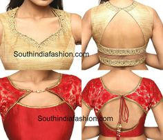 A few latest saree blouse back and front neck patterns, new model neck deisgns for blouse, front neck designs, back neck designs