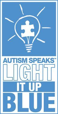 April 2....Light It Up Blue...Autism Awareness Day (Show your support...light your porch, house, room, whatever blue!)