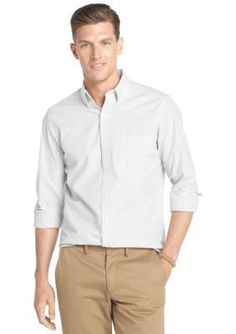 IZOD  Slim Fit Gingham Woven Shirt